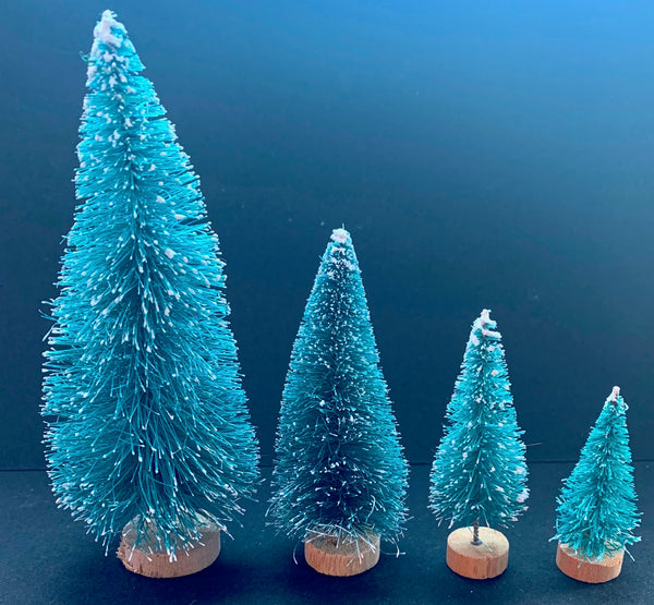 Vintage Bottlebrush Christmas trees 4.5cm - 11cm