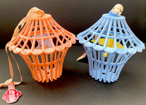 Gloriously Kitsch 1950s Prit-E-Gift Bird Cage Rattle Made in England