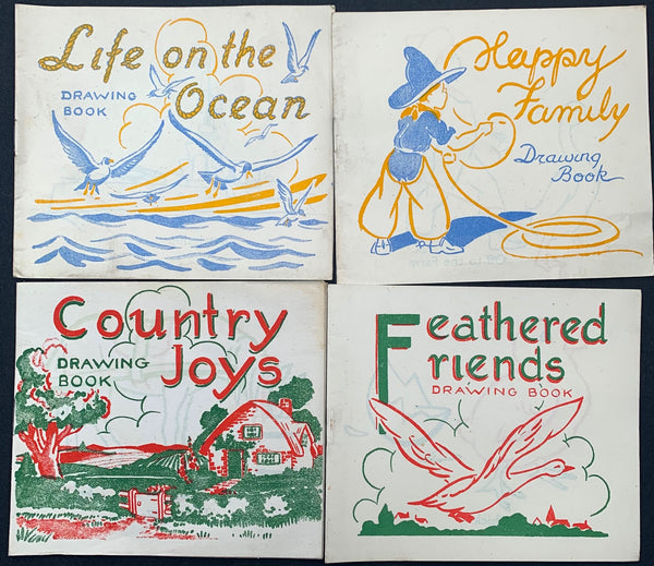 Sweet Little 1930s Drawing Books -Unused