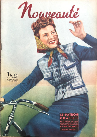 Lovely March 1939 Fashions in French Fashion Paper Nouveaute