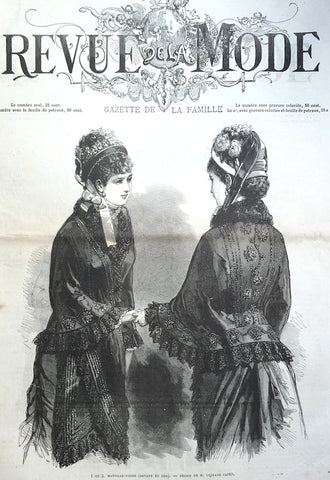 13th April 1879 - 137 Years Old French Fashion Paper Revue de la Mode