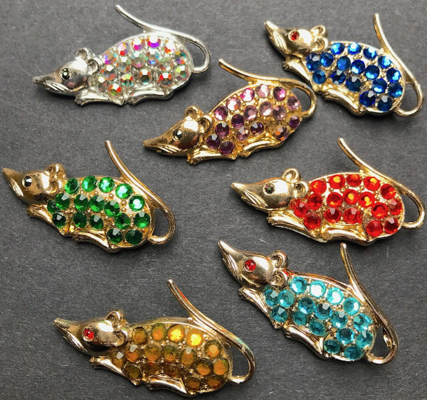 Sparkly Little Mouse Friends...1950s Brooches to Brighten Your Days...
