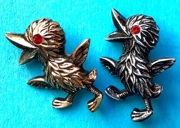 Just Happy to Be Alive...Joyful Vintage Baby Bird Brooches