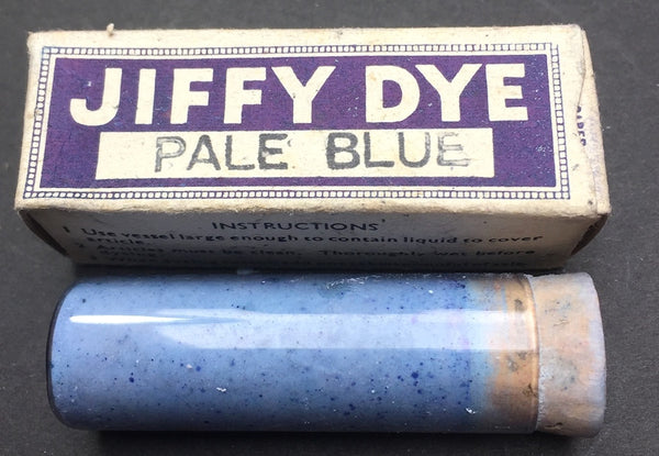1940s Wartime JIFFY DYE for Cotton & Wool.. with Instructions ...Choice of Colours