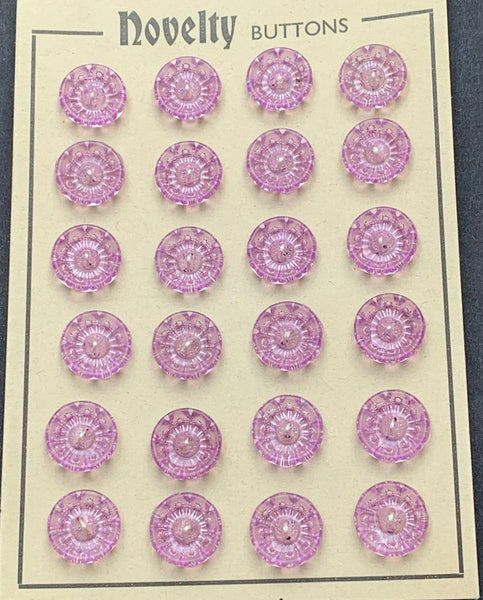 Shimmering Vintage Lilac Starburst Buttons - Different sizes and quantities 12mm -20mm