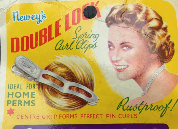 1940s Double Lock SPRING CURL CLIPS NEWEY'S Made in England
