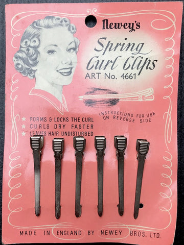 1940s SPRING CURL GRIPS NEWEY'S Made in England