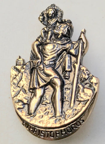 Vintage St Christopher Brooch..To Help You on Your Way....
