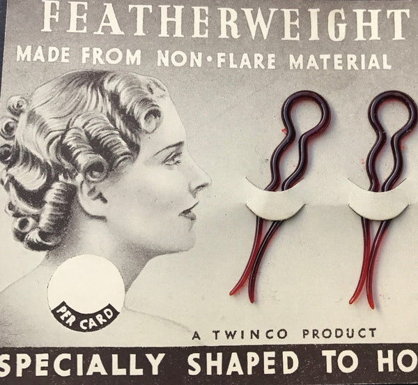 1940s FEATHERWEIGHT HAIR PINS Made in England