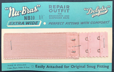 "1940s ""Nu-Bras""  Extra Wide 1.5"" REPAIR OUTFIT for Brassieres and Suspender Belts"