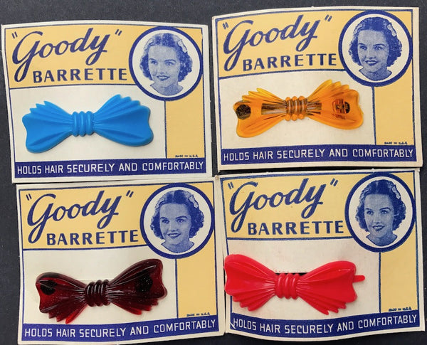 "Sweet Little 1950s ""Goody"" BARRETTES - Choice of 4 Colours"
