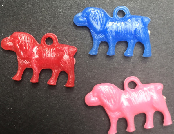 3 Vintage Dog Charms - 1.5cm tall
