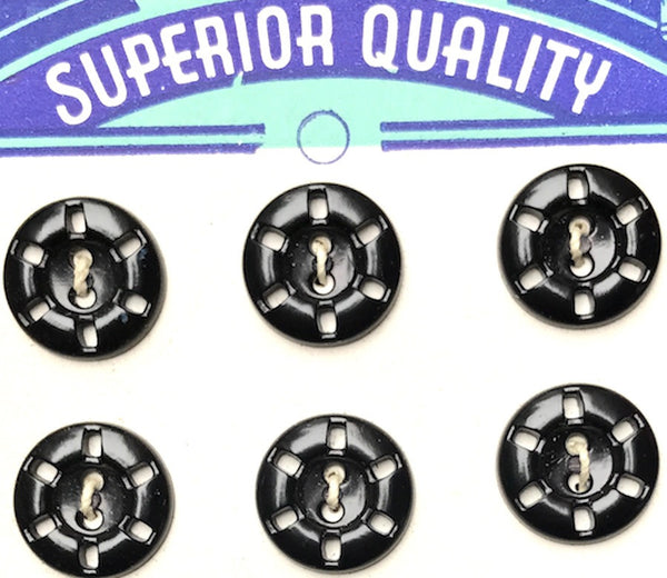 Black Modernist Buttons - Choice of Sizes