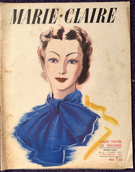 April 1937 - Issue No 6 of French MARIE CLAIRE