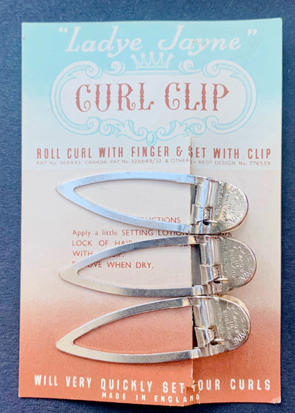 "4.5cm Lady Jayne 1940s CURL CLIP ""WILL VERY QUICKLY SET YOUR CURLS"""