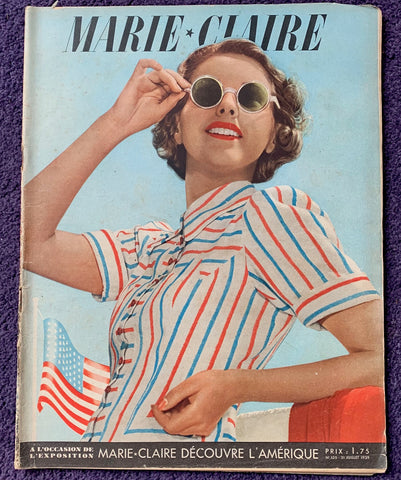 July 1939 MARIE CLAIRE Discovers America !