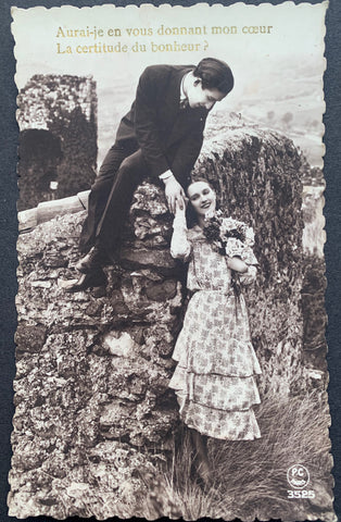 Heartfelt Question on 1930s Romantic Postcard
