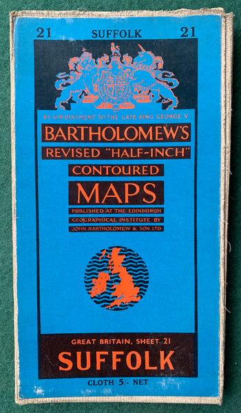 Fascinating 1930s, 40s, 50s Maps of Suffolk incl. Southwold, Harwich, Lowestoft