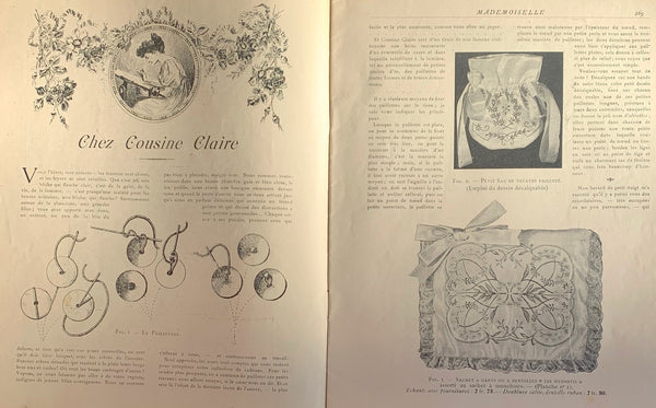 "December 1907 Crafts and Fashion in  French Review ""Mademoiselle"""