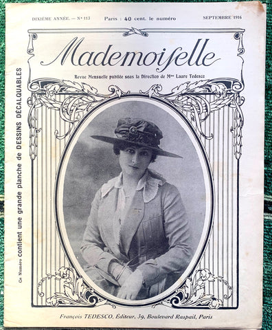 "Crafts and Fashion in 1916 French Review ""Mademoiselle"" incl. Patterns"
