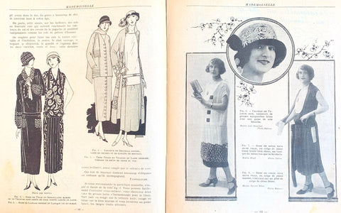 "November 1924 French Review ""Mademoiselle"" incl 2 Embroidery Patterns."