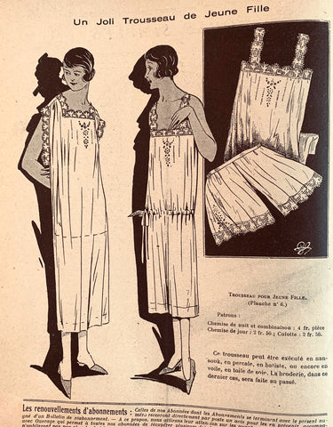 "1920s Crafts and Fashion in December 1924 French Review ""Mademoiselle"""