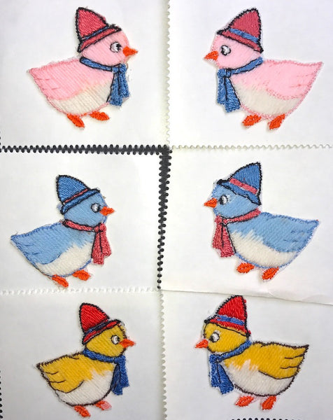 Sweet Little chick..in a Hat..Vintage 3.5cm Applique - Choice of colours