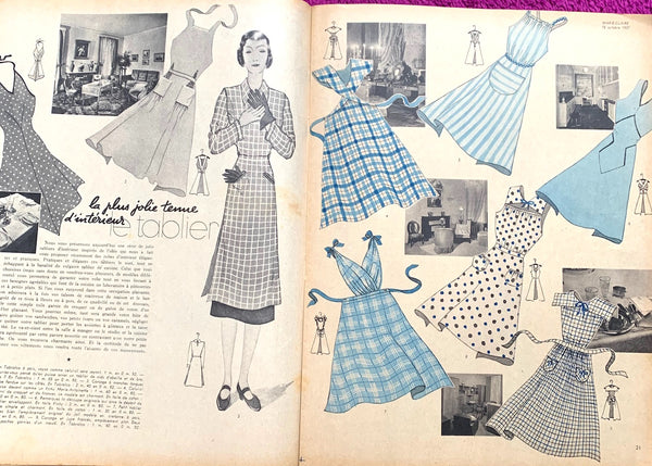 1930s Interior Design Ideas in October 1937 of French MARIE CLAIRE