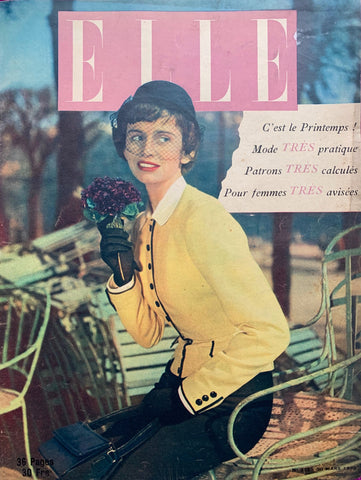 22nd May 1950 issue of French ELLE Fashion Magazine