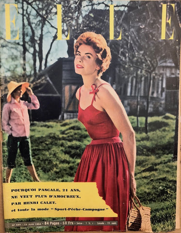 14th June 1954 issue of ELLE French Fashion Magazine