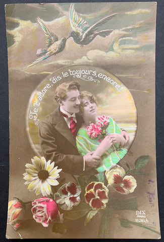 Ongoing Protestations of Love on this Romantic Edwardian French Postcard