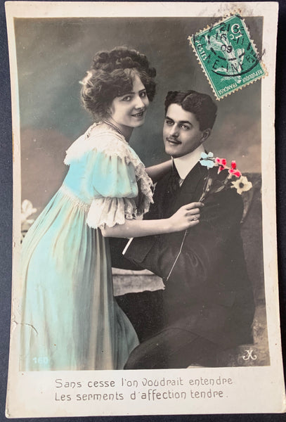 A Plea for a bit of Romantic Recognition on this 1909 French Postcard