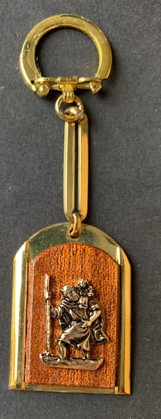 1960s St Christopher Keyring....Don't leave home without it !