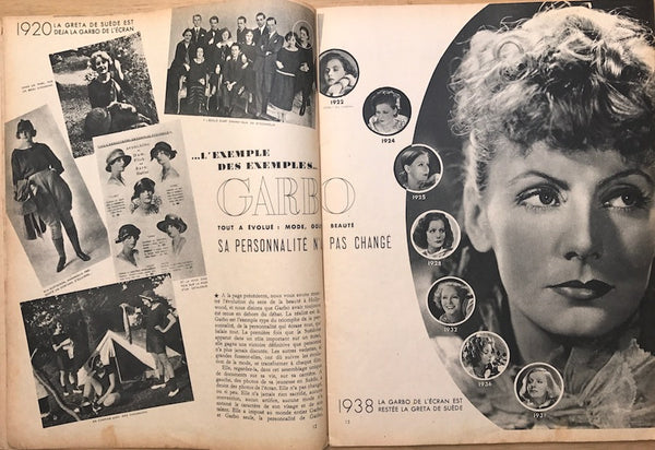 MARIE CLAIRE Feb 1938 Wonderful Illustrations and Greta Garbo 1920 - 1938