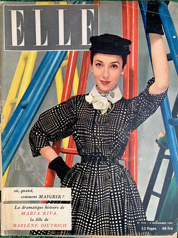 Nov 1951 French ELLE -incl. Marlene Dietrich