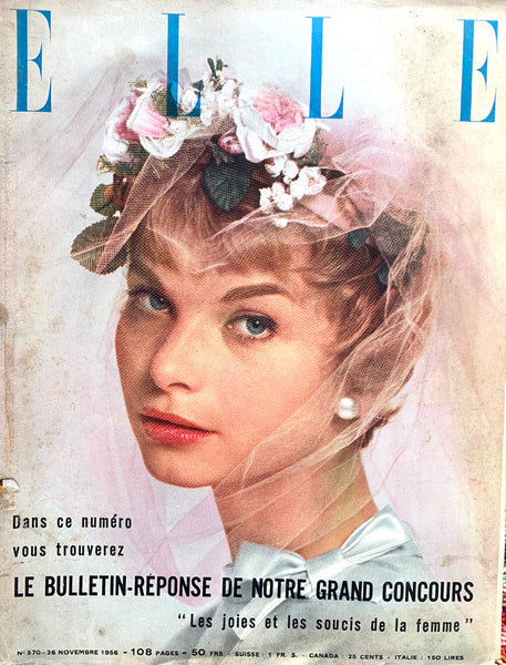 Nov 1956 - 106 Pages -issue of French ELLE