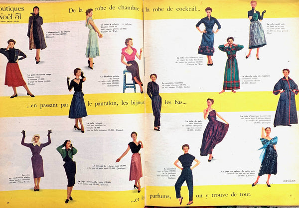 Nov 1951 French ELLE - Lots of Fashion and Early 50s Lifestyle Tips