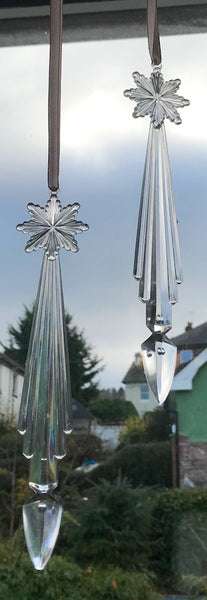 "Rather Special 1960s Lucite Star Icicle Decoration 8""/ 21cm tall"