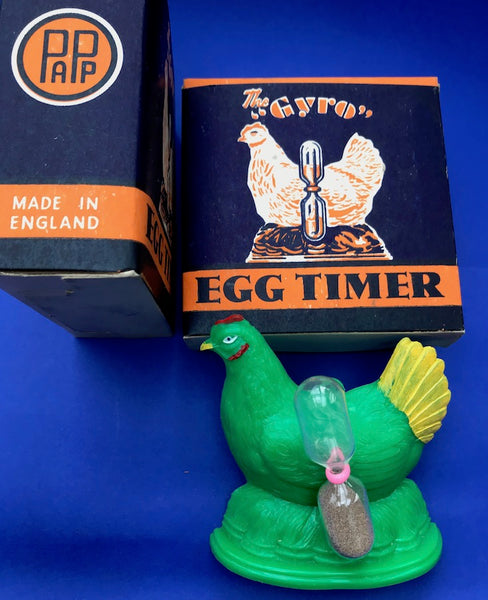 "The ""GYRO"" Chicken Egg Timer  - Mint in original 1940s Box Made in ENGLAND"