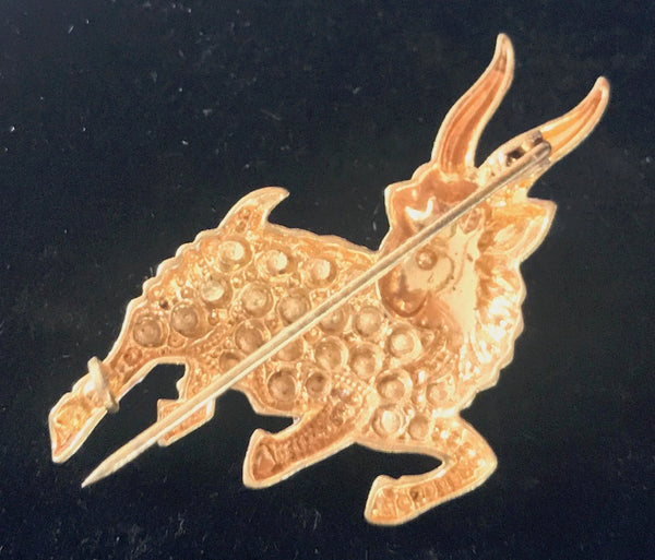 Dancing Mountain Goat Vintage  Brooch