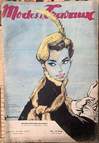 Lovely 1953 French Fashion Paper Modes & Travaux