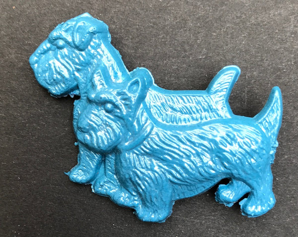 Delightful Vintage 1950s Scottie Dog & West Highland Terrier Brooch - Choice of Colours