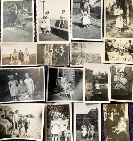 13 x 1930s photos of Mothers and Children(A25)