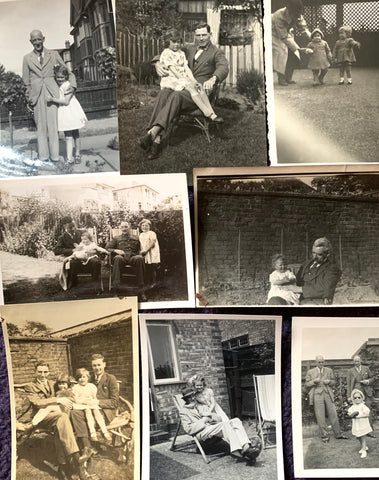 8 photos from the 1920s -1940s of Fathers and Children( A28)