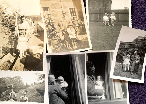 7 photos from the 1920s -1940s of Fathers and Children( A29)