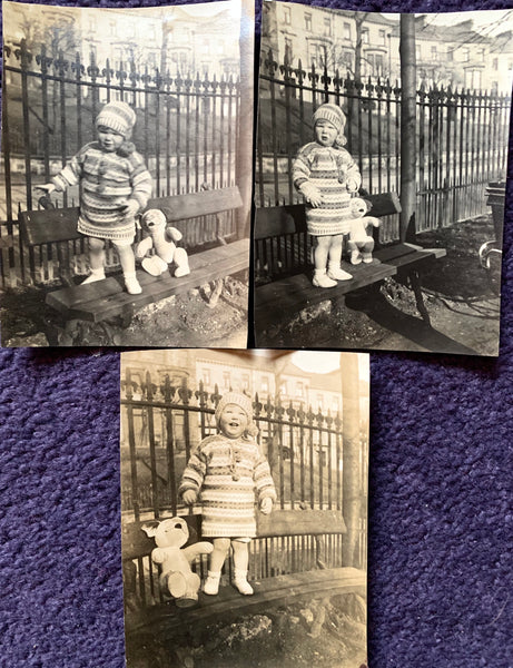 1930s Bonzo Toy and its Owner - 3 photos. ( A37)