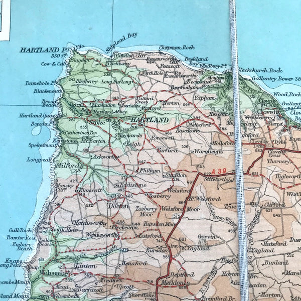 1932 Bartholomew's Map of North Devon
