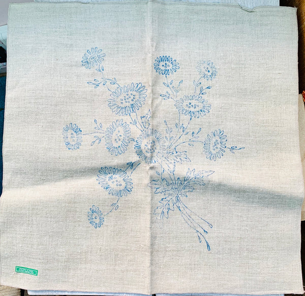 Lovely Vintage Pure Irish Linen 50cm Cushion Covers to Embroider