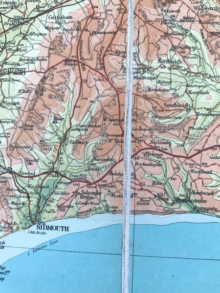 Early 1930s Bartholomew's Map of Dorset