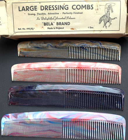 """STRONG, FLEXIBLE, ATTRACTIVE - PERFECTLY FINISHED"" Big Marbled Comb."